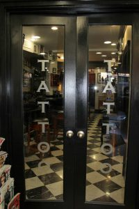 Entrance to Tattoo Parlor | Boston Barber & Tattoo Co.